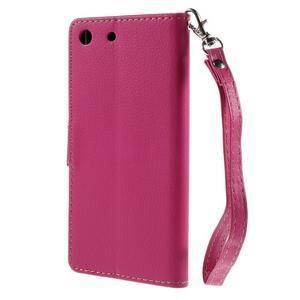 Blade peněženkové pouzdro na Sony Xperia M5 - rose - 2