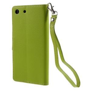 Blade Peňaženkové puzdro pre Sony Xperia M5 - zelené - 2