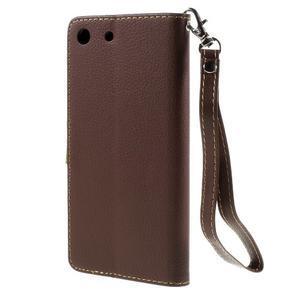 Blade peněženkové pouzdro na Sony Xperia M5 - hnědé - 2