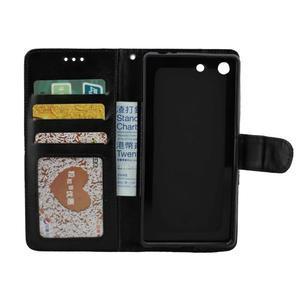 Horse PU kožené puzdro pre Sony Xperia M5 - čierne - 2
