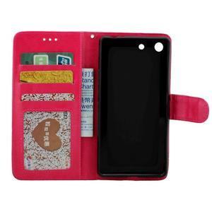 Horse PU kožené puzdro pre Sony Xperia M5 - rose - 2