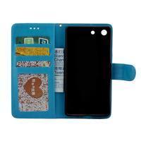 Horse PU kožené pouzdro na Sony Xperia M5 - modré - 2/7