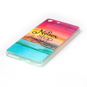 Style gélový obal pre Sony Xperia M5 - neprestávaj snívať - 2