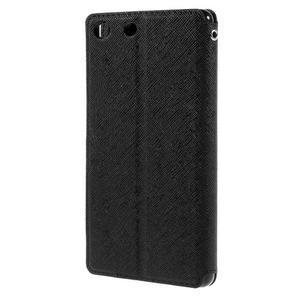 Diary puzdro s okienkom na Sony Xperia M5 - čierne - 2
