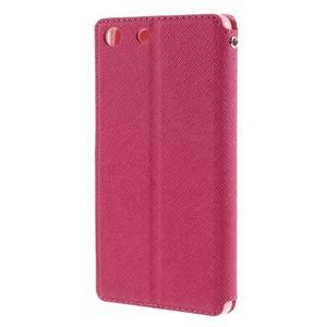 Diary puzdro s okienkom na Sony Xperia M5 - rose - 2