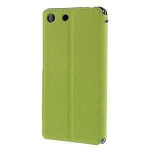 Diary pouzdro s okýnkem na Sony Xperia M5 - zelené - 2