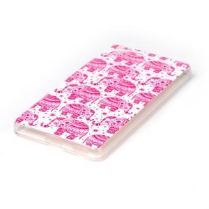 Style gélový obal pre Sony Xperia M5 - ružoví slony - 2