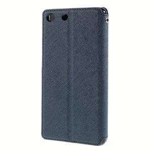 Diary pouzdro s okýnkem na Sony Xperia M5 - tmavěmodré - 2