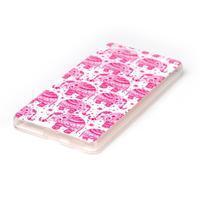 Style gélový obal pre Sony Xperia M5 - ružoví slony - 2/3