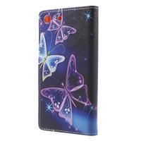 Stand peněženkové pouzdro na Sony Xperia M5 - magičtí motýlci - 2/7