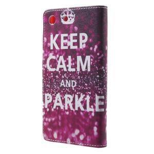 Stand Peňaženkové puzdro pre Sony Xperia M5 - Keep Calm - 2