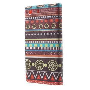 Stand Peňaženkové puzdro pre Sony Xperia M5 - tribal - 2