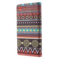 Stand Peňaženkové puzdro pre Sony Xperia M5 - tribal - 2/7