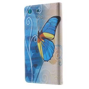 Stand peněženkové pouzdro na Sony Xperia M5 - motýlek - 2