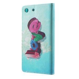 Stand Peňaženkové puzdro pre Sony Xperia M5 - love - 2