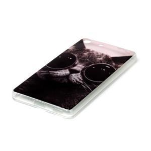 Style gélový obal pre Sony Xperia M5 - kocúr - 2
