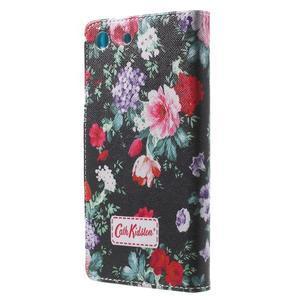Stand Peňaženkové puzdro pre Sony Xperia M5 - kvitnúce ruže - 2