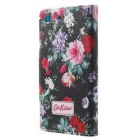 Stand Peňaženkové puzdro pre Sony Xperia M5 - kvitnúce ruže - 2/7