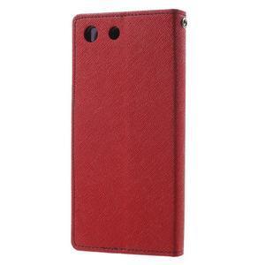 Goos PU kožené penženkové pouzdro na Sony Xperia M5 - červené - 2