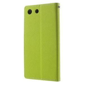 Goos PU kožené peňaženkové puzdro pre Sony Xperia M5 - zelené - 2