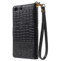 Croco Peňaženkové puzdro pre mobil Sony Xperia M5 - čierne - 2/7