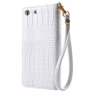 Croco Peňaženkové puzdro pre mobil Sony Xperia M5 - biele - 2
