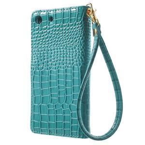Croco peněženkové pouzdro na mobil Sony Xperia M5 - modré - 2