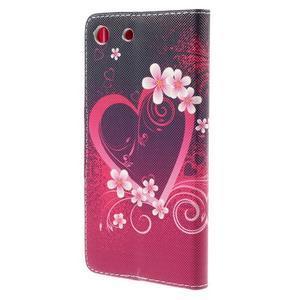 Crafty Peňaženkové puzdro pre Sony Xperia M5 - srdce - 2