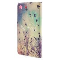 Crafty Peňaženkové puzdro pre Sony Xperia M5 - vtáčiky - 2/7