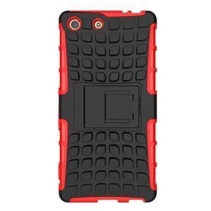 Outdoor odolný kryt pre mobil Sony Xperia M5 - červený - 2