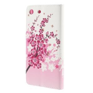Crafty peněženkové pouzdro na Sony Xperia M5 - kvetoucí větvička - 2