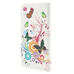 Crafty Peňaženkové puzdro pre Sony Xperia M5 - motýľe - 2