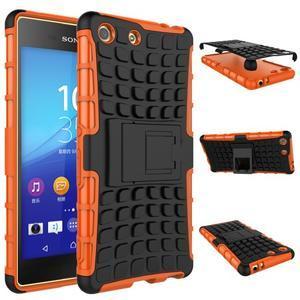 Outdoor odolný kryt pre mobil Sony Xperia M5 - oranžový - 2