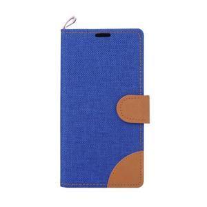 Jeans peňaženkové puzdro pre mobil Sony Xperia M5 - modré - 2