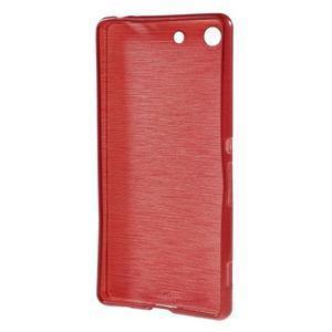 Brush gélový obal pre Sony Xperia M5 - červený - 2