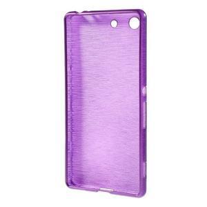 Brush gélový obal pre Sony Xperia M5 - fialový - 2