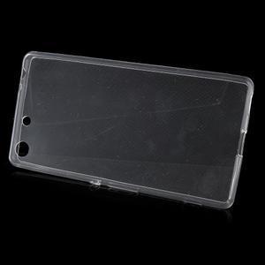 Ultratenký slim gelový obal na mobil Sony Xperia M5 - transparentní - 2