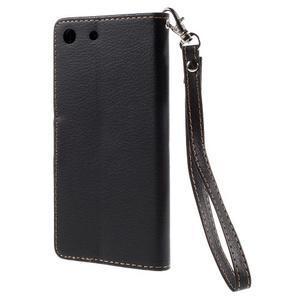 Blade Peňaženkové puzdro pre Sony Xperia M5 - čierne - 2