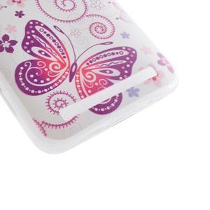 Softy gélový obal pre mobil Asus Zenfone 2 Laser - motýľek - 2