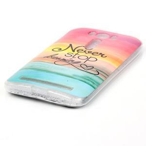 Softy gelový obal na mobil Asus Zenfone 2 Laser - nepřestávej snít - 2