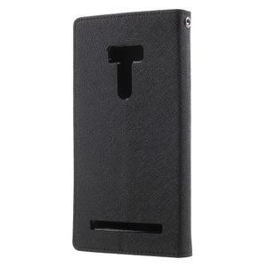 Mr. Goos peňaženkové puzdro na Asus Zenfone Selfie ZD551KL - čierné - 2