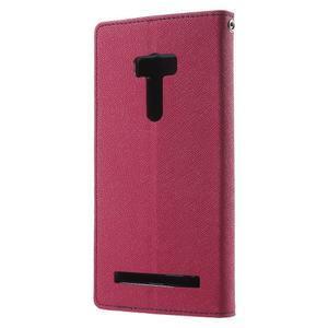 Mr. Goos peňaženkové puzdro pre Asus Zenfone Selfie ZD551KL - rose - 2