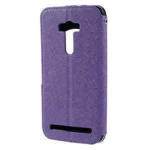 Peňaženkové puzdro s okýnkem na Asus Zenfone Selfie ZD551KL - fialové - 2