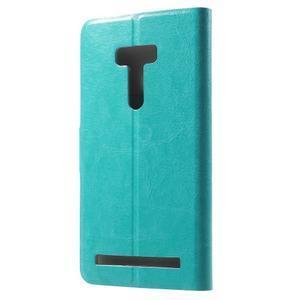 Horse peňaženkové puzdro na Asus Zenfone Selfie ZD551KL - modré - 2