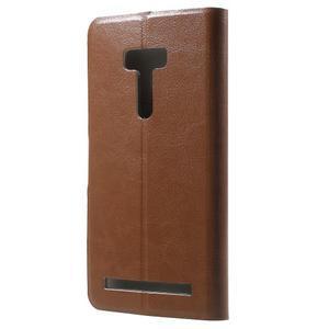 Horse peňaženkové puzdro na Asus Zenfone Selfie ZD551KL - hnedé - 2