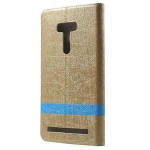 Lines puzdro na mobil Asus Zenfone Selfie ZD551KL - zlaté - 2