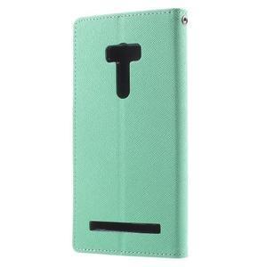 Mr. Goos peňaženkové puzdro na Asus Zenfone Selfie ZD551KL - cyan - 2