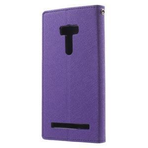 Mr. Goos peňaženkové puzdro na Asus Zenfone Selfie ZD551KL - fialové - 2