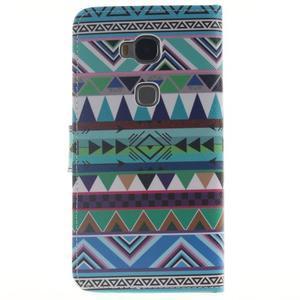Peňaženkové puzdro pro mobil Honor 5X - geo tvary - 2