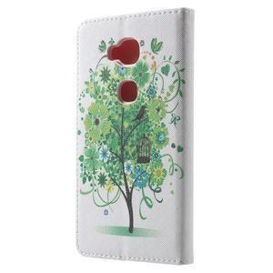 Emotive PU kožené pouzdro na mobil Honor 5X - zelený strom - 2